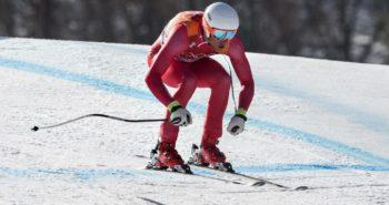 DK: 20180213, PyeongChang, Korea:  PyeongChang 2018 Olympiske Lege. Alpin skiløb kombineret for mænd. Styrtløb. Christoffer Faarup, Danmark. Foto: Lars Møller UK:  20180213, PyeongChang, Korea:  PyeongChang 2018 Olympiske Lege. Alpine skiing combined for men. Downhill. Christoffer Faarup, Denmark. Photo: Lars Moeller